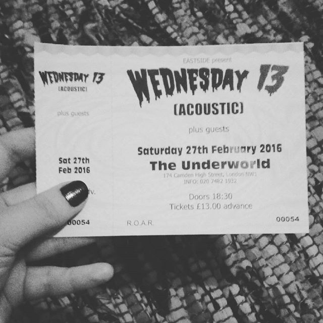 Wednesday 13 Ticket