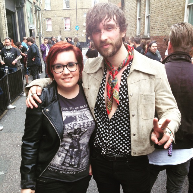Louis singer of Dirty Thrills and rock blogger Amanda Winchester.